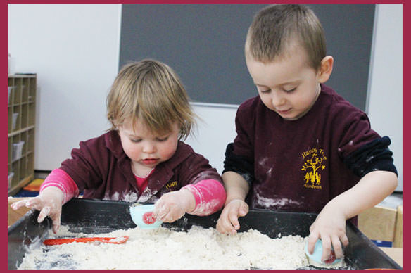 Learning through play activities at Happy Tree Northwood nursery - cooking class